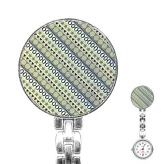 Abstract Seamless Pattern Stainless Steel Nurses Watch