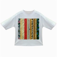 Digitally Created Collage Pattern Made Up Of Patterned Stripes Infant/toddler T Shirts