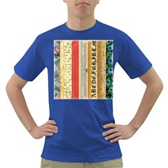Digitally Created Collage Pattern Made Up Of Patterned Stripes Dark T Shirt