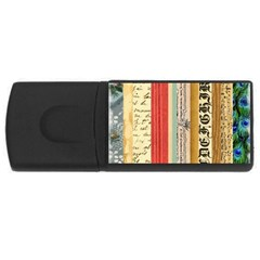 Digitally Created Collage Pattern Made Up Of Patterned Stripes Usb Flash Drive Rectangular (4 Gb)