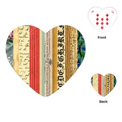 Digitally Created Collage Pattern Made Up Of Patterned Stripes Playing Cards (heart)