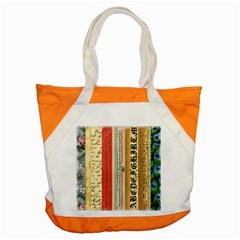 Digitally Created Collage Pattern Made Up Of Patterned Stripes Accent Tote Bag