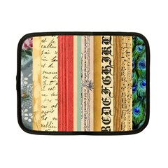 Digitally Created Collage Pattern Made Up Of Patterned Stripes Netbook Case (Small)
