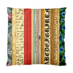 Digitally Created Collage Pattern Made Up Of Patterned Stripes Standard Cushion Case (one Side)