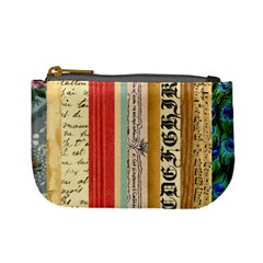 Digitally Created Collage Pattern Made Up Of Patterned Stripes Mini Coin Purses