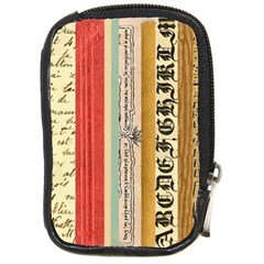 Digitally Created Collage Pattern Made Up Of Patterned Stripes Compact Camera Cases