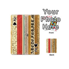 Digitally Created Collage Pattern Made Up Of Patterned Stripes Playing Cards 54 (Mini)
