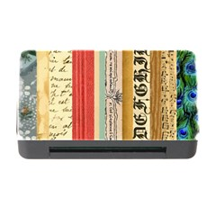 Digitally Created Collage Pattern Made Up Of Patterned Stripes Memory Card Reader with CF