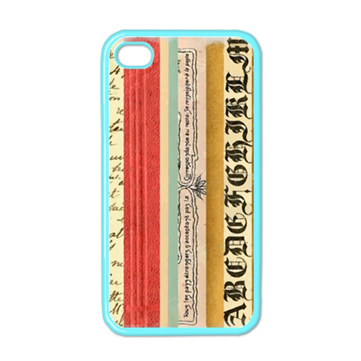 Digitally Created Collage Pattern Made Up Of Patterned Stripes Apple iPhone 4 Case (Color)