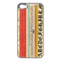 Digitally Created Collage Pattern Made Up Of Patterned Stripes Apple iPhone 5 Case (Silver)