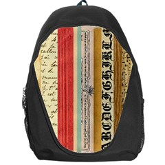 Digitally Created Collage Pattern Made Up Of Patterned Stripes Backpack Bag