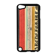 Digitally Created Collage Pattern Made Up Of Patterned Stripes Apple Ipod Touch 5 Case (black)