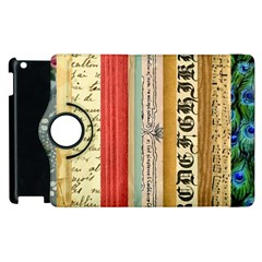Digitally Created Collage Pattern Made Up Of Patterned Stripes Apple Ipad 2 Flip 360 Case