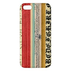 Digitally Created Collage Pattern Made Up Of Patterned Stripes Apple Iphone 5 Premium Hardshell Case