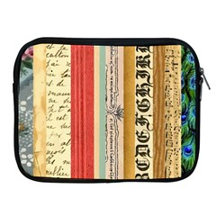 Digitally Created Collage Pattern Made Up Of Patterned Stripes Apple Ipad 2/3/4 Zipper Cases