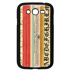 Digitally Created Collage Pattern Made Up Of Patterned Stripes Samsung Galaxy Grand Duos I9082 Case (black)