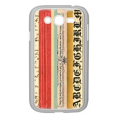 Digitally Created Collage Pattern Made Up Of Patterned Stripes Samsung Galaxy Grand Duos I9082 Case (white)