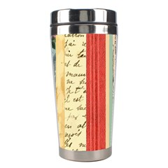 Digitally Created Collage Pattern Made Up Of Patterned Stripes Stainless Steel Travel Tumblers