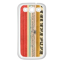 Digitally Created Collage Pattern Made Up Of Patterned Stripes Samsung Galaxy S3 Back Case (White)