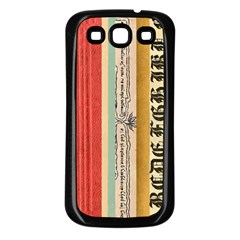Digitally Created Collage Pattern Made Up Of Patterned Stripes Samsung Galaxy S3 Back Case (black)