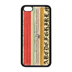 Digitally Created Collage Pattern Made Up Of Patterned Stripes Apple iPhone 5C Seamless Case (Black)