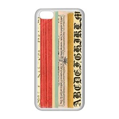 Digitally Created Collage Pattern Made Up Of Patterned Stripes Apple Iphone 5c Seamless Case (white)