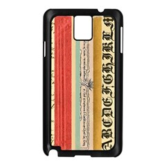 Digitally Created Collage Pattern Made Up Of Patterned Stripes Samsung Galaxy Note 3 N9005 Case (black)