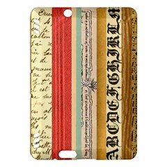 Digitally Created Collage Pattern Made Up Of Patterned Stripes Kindle Fire HDX Hardshell Case