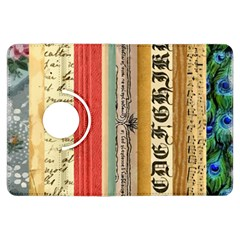 Digitally Created Collage Pattern Made Up Of Patterned Stripes Kindle Fire Hdx Flip 360 Case