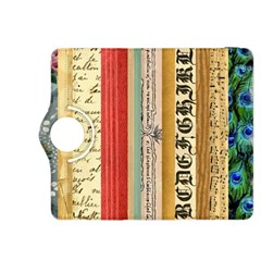 Digitally Created Collage Pattern Made Up Of Patterned Stripes Kindle Fire Hdx 8 9  Flip 360 Case