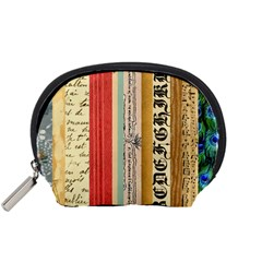 Digitally Created Collage Pattern Made Up Of Patterned Stripes Accessory Pouches (Small)