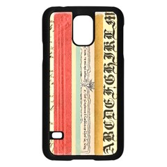 Digitally Created Collage Pattern Made Up Of Patterned Stripes Samsung Galaxy S5 Case (black)