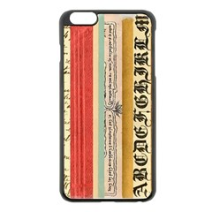 Digitally Created Collage Pattern Made Up Of Patterned Stripes Apple Iphone 6 Plus/6s Plus Black Enamel Case