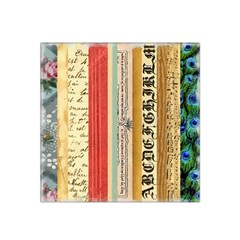 Digitally Created Collage Pattern Made Up Of Patterned Stripes Satin Bandana Scarf