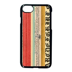 Digitally Created Collage Pattern Made Up Of Patterned Stripes Apple iPhone 7 Seamless Case (Black)