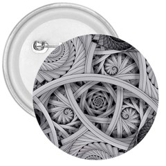 Fractal Wallpaper Black N White Chaos 3  Buttons