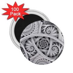 Fractal Wallpaper Black N White Chaos 2.25  Magnets (100 pack)