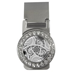 Fractal Wallpaper Black N White Chaos Money Clips (cz)