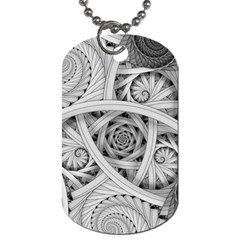 Fractal Wallpaper Black N White Chaos Dog Tag (two Sides)