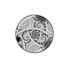 Fractal Wallpaper Black N White Chaos Hat Clip Ball Marker (10 pack)