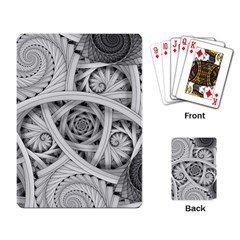 Fractal Wallpaper Black N White Chaos Playing Card