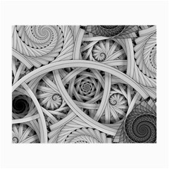 Fractal Wallpaper Black N White Chaos Small Glasses Cloth (2 Side)