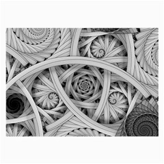 Fractal Wallpaper Black N White Chaos Large Glasses Cloth