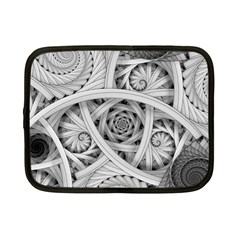 Fractal Wallpaper Black N White Chaos Netbook Case (small)