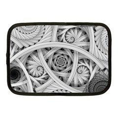 Fractal Wallpaper Black N White Chaos Netbook Case (medium)