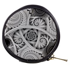 Fractal Wallpaper Black N White Chaos Mini Makeup Bags