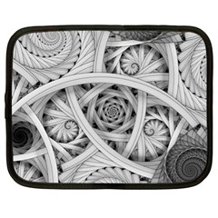 Fractal Wallpaper Black N White Chaos Netbook Case (xl)