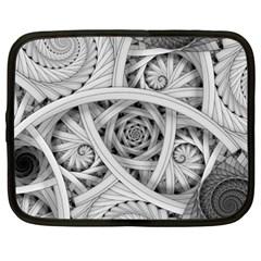 Fractal Wallpaper Black N White Chaos Netbook Case (XXL)