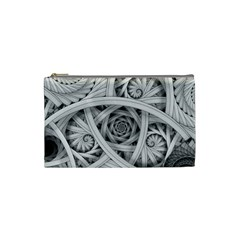 Fractal Wallpaper Black N White Chaos Cosmetic Bag (small)