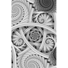 Fractal Wallpaper Black N White Chaos 5 5  X 8 5  Notebooks